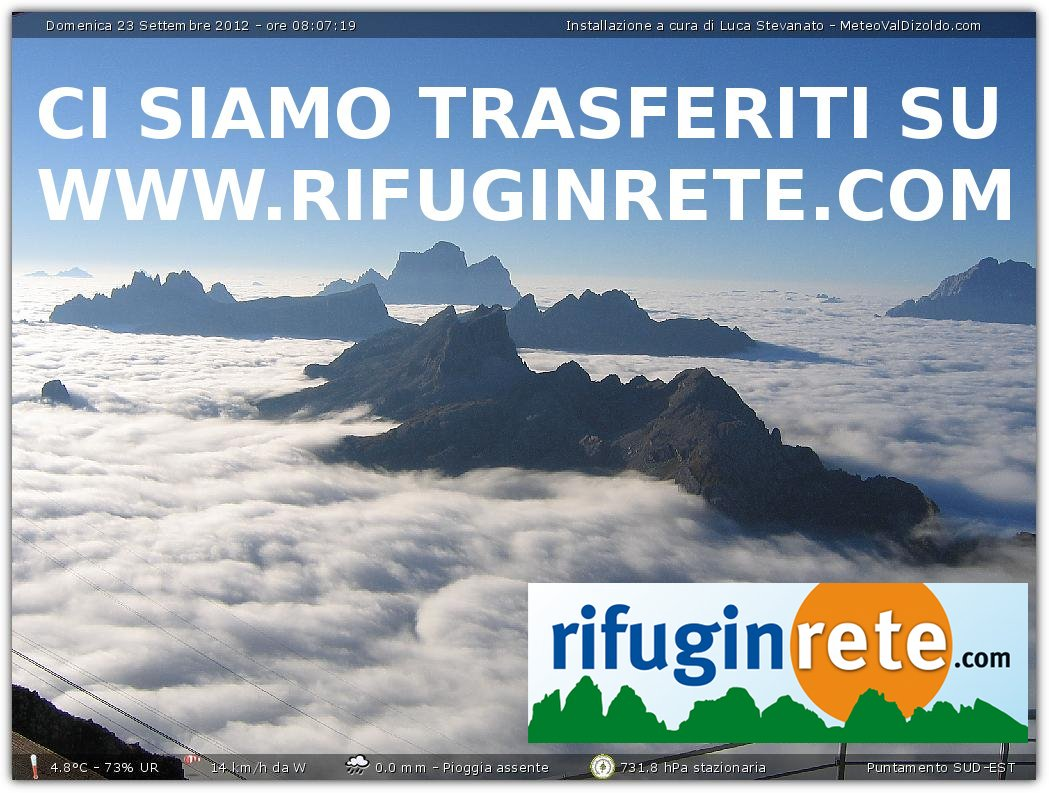 Webcam Rifugio Lagazuoi mt 2752 BL Live webcamera